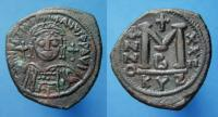 "Justinian AE Follis ""M"" DATED AD 548 and SUPERB"